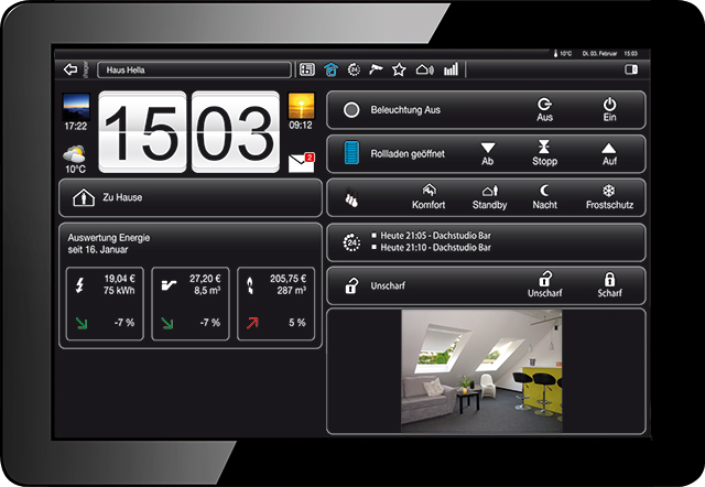 "KNX Touch Control mit TFT-Display 3,5"" und Busankoppler"