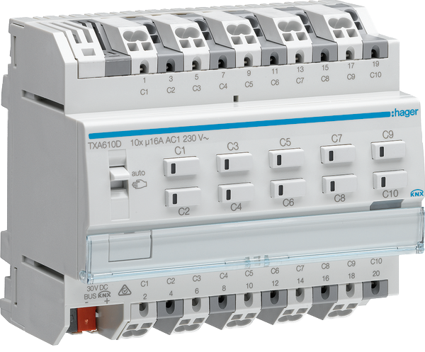 KNX-Aktor mit <strong>quick</strong>connect Anschlusstechnik